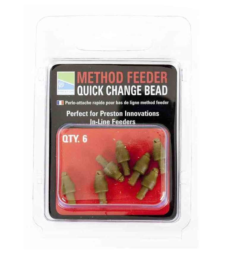 Method feeder qu ick change bead